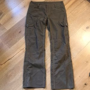 Kuhl vintage dyed cargo pants roll up to capris